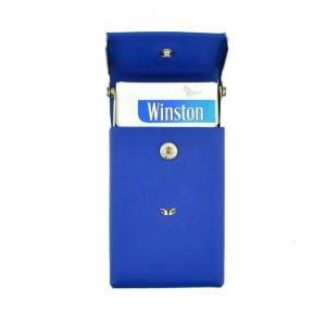 Tergan Mavi Deri Sigara Kılıfı - 0230L6B - Thumbnail