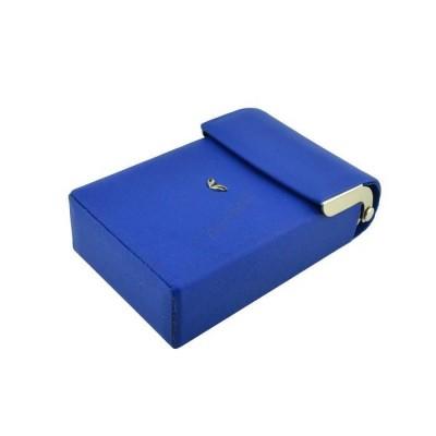 Tergan Mavi Deri Sigara Kılıfı - 0230L6B